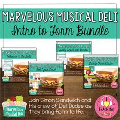 This item is part of The Marvelous Musical Deli Series. The Marvelous Musical Deli is a free online resource dedicated to teaching the concept of musical form. The website and video series are an endeavor to take the somewhat abstract concept of form and make it more concrete for