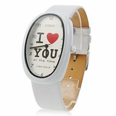 Tanboo Women's Letters Style PU Analog Quartz Wrist Watch (White) by Tanboo. $9.99. Wrist Watches. Casual Watches. Women's Watche. Gender:Women'sMovement:QuartzDisplay:AnalogStyle:Wrist WatchesType:Casual WatchesBand Material:PUBand Color:WhiteCase Diameter Approx (cm):3.5Case Thickness Approx (cm):0.8Band Length Approx (cm):24Band Width Approx (cm):2