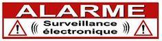 Sticker et etiquette Protection alarme à faire / imprimer pour dissuader les cambrioleurs: alarme, surveillance électronique, webcam, vidéo surveillance...