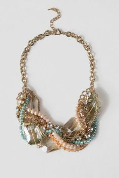 Kiel Twisted Statement Necklace in Natural - nat-cl