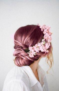 Coloration tendance: rose gold hair © Pinterest Brit Morin