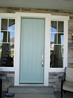 Green Trance by Sherwin Williams - front door paint color - How Cute is this door?