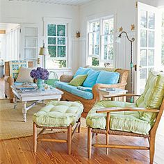 Scared of putting color on the wall? Try re-upholstering furniture in a bright hue
