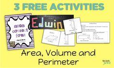 3 Free Math Activities for Area, Perimeter, Volume - Teach Junkie