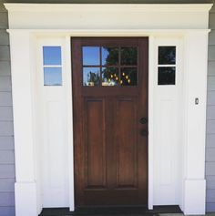 Beautiful front door from Simpson Door Company via Beautiful Front Doors, Unique Doors, Wood Front Doors, Front Door Design, Urban Farmhouse, Glass Door, Tall Cabinet Storage, Exterior, Inspire