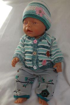 """Oblečky pro panenky - \""""Ptačí hnízdění\"""" Knit Crochet, Crochet Hats, Baby Born, Knitted Dolls, Ag Dolls, 18 Inch Doll, Crochet Ideas, Doll Clothes, First Love"""