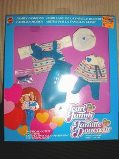 NIB THE HEART FAMILY DOLL MOTHER & DAUGHTER FASHIONS NAUTICAL OUTFIT FOREIGN BOX #Mattel #ClothingShoes