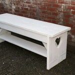 cute wooden bench