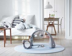 Done By Deer Activity Gym- Red Dot Design Award Winning Nordic Interior Design, Scandinavian Design, Baby Spiegel, Done By Deer, Cloud Cushion, Red Dot Design, Baby Deer, Baby Boy, Design Awards