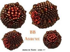 Peyote beaded beads w link to PDF download to tutorial/schema