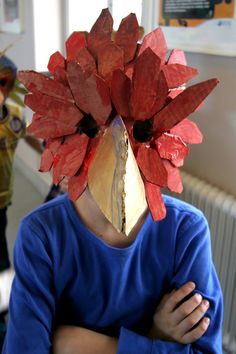 https://flic.kr/p/h5ugna | Animal mask workshop | Teaching a class of twenty third-graders to make their own cardboard animal masks