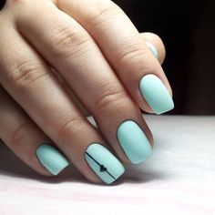 53 awe-inspiring nail art designs for short nails 1 Dream Nails, Love Nails, My Nails, Fall Nails, Summer Acrylic Nails, Best Acrylic Nails, Diagonal Nails, Nails Yellow, Black Nails