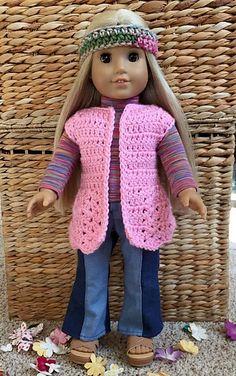 Ravelry: American Girl Groovy Little Vest pattern by Patricia Klonoski