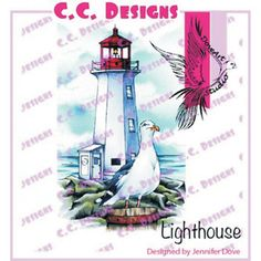 C.C. Designs > Lighthouse - DoveArt Cling Stamp: A Cherry On Top