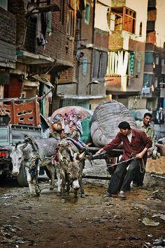 Garbage City. Cairo, Egypt