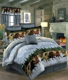 Adorable girl's horse bedding sets in comforters, quilts and sheet sets. Western horse bedding for girls and teen girls. Perfect for a horse themed bedroom! Dream Bedroom, Bed Comforter Sets, Decor, Bedroom Themes, Full Size Bed Comforter, Bedroom Decor, Horse Bedding, Horse Themed Bedrooms, Bed