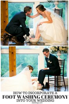 How We Incorporated Foot Washing Into Our Wedding Ceremony (With Video) Wedding Ceremony Ideas, Christian Wedding Ceremony, Unity Ceremony, Wedding Vows, Our Wedding, Dream Wedding, Wedding Timeline, Wedding Rings, Spring Wedding