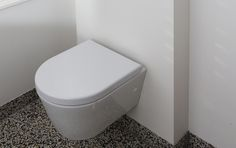Jaren30woningen.nl | Modern toilet met klassieke #terrazzovloer