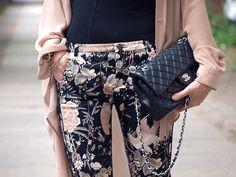 Floral skinnies.