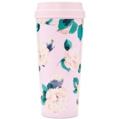 Ban.do Lady Of Leisure Thermal Travel Mug ($14) ❤ liked on Polyvore featuring home, kitchen & dining, drinkware, fillers, decoration, lady of leisure, thermal travel mug and thermo travel mug