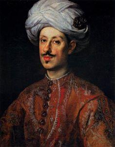 Justus Sustermans  - Portrait of Ferdinando II de' Medici (1610-1670) Grand Duke of Tuscany, Dressed in Oriental Costume. Ferdinand displays the elongated 'Habsburg chin' inherited from his Austrian heritage.