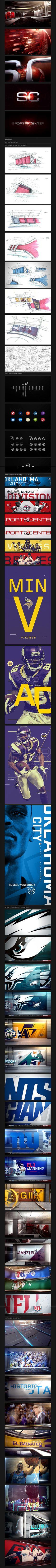 sport central.  Sports graphics. Motion design