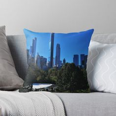 Designer Throw Pillows, Central Park, Pillow Design, New York City, The Originals, Printed, Awesome, Art, Products