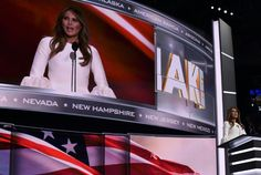 Melania Trump hit by plagiarism controversy. Melania Trump, wife of Republican presidential candidate Donald Trump, speaks on stage on the first day of the Republican National Convention in Cleveland, Ohio, on July 2016 Republican Convention, Presidential Candidates, New Hampshire, New Jersey, Nevada, Donald Trump, Politics, American, News
