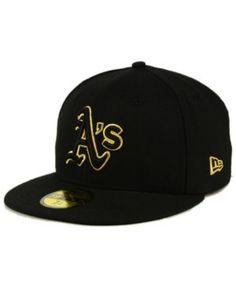 New Era Oakland Athletics Black On Metallic Gold 59FIFTY Fitted Cap - Black 7 3/8