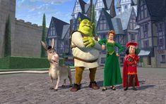 *DONKEY, SHREK, FIONA & LORD FARQUAAD ~ Shrek (2001