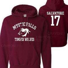 Cronicas Vampiricas de Mystic Falls con capucha SALVATORE 17