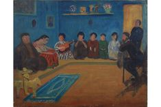 An Evening at Diego Rivera's House, Mexico, 1923, oil on canvas by Walter Pach.