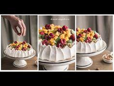 Słodka Kuchnia Pszczółek - Beza Pavlova z owocami - YouTube Pavlova, Acai Bowl, Panna Cotta, Bakery, Breakfast, Ethnic Recipes, Youtube, Foods, Film