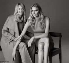 Stylish duo: Jodie Kidd and her mother Wendy pose in clothes from Jaeger's new Autumn collection