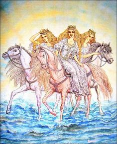 ЯДЗЕРКІ. Ядзерки -- морские царевны. Валерий Славук. Jadzerka - sea princesses.
