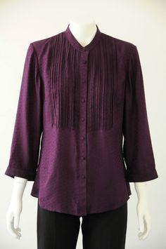 Sportscraft  Women s 100% Silk 3/4 Sleeve Collared Buttoned Shirt {Size 12}