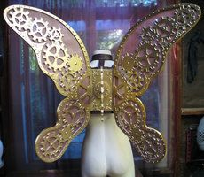 The Clockwork Wings by ~thedreadeddolly Thoughts for the Steampunk butterfly costume