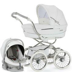 Sistema de viagens combinadas Bebecar Magic Stylo classe (White Magic) - Here Comes Baby - Pram Stroller, Baby Strollers, Bebe Car, Vintage Pram, Vintage Stroller, Prams And Pushchairs, Baby Prams, Baby Necessities, Travel System