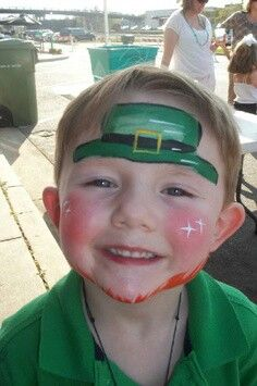 Cute St. Patrick's Day face painting ideas for boys.