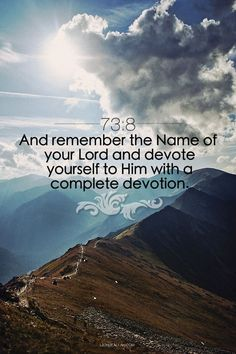 Surah Al-Muzzammil | 73:8