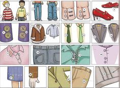 Clothing problems and alterations vocabulary