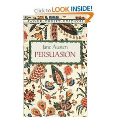 "Persuasion by Jane Austen. I have been trying to read this book for a few months now. Inspired to actually finish it, after seeing the movie ""The Lake House"". Beautiful theme of learning how to trust in waiting for the best to come."