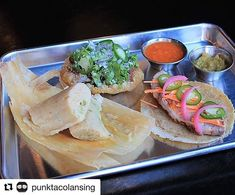 Check out @punktacolansing for their delicious tacos tamales and margaritas!  #foodiefriday #lovelansing