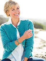 Women's Wool Cable Cardigan