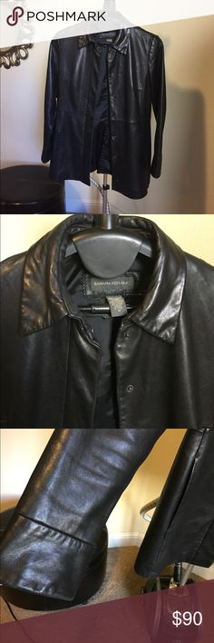 Banana Republic Leather Jacket Very soft high quality leather jacket by Banana Republic. Snap closure with collar...classic style with comfy tailored fit.  Gently used. Banana Republic Jackets & Coats