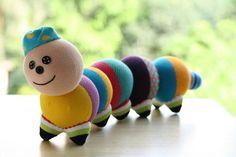 T5 Stuffed caterpillar toy stuffed animal baby by Toyapartment