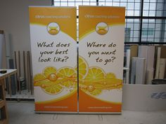 Banner Stand Produced and assembled by FASTSIGNS Vancouver for Citrus Coaching www.fastsigns.com/653 Create A Company, Rollup Banner, Display Banners, Banner Stands, Car Wrap, Paper Shopping Bag, Coaching, Vehicle Wraps, Vancouver