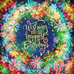 Happy Birthday Vintage, Happy Birthday Girls, Happy Birthday Images, Birthday Pictures, Birthday Congratulations, Happy Birthday Wishes Quotes, Happy Birthday Wishes Cards, Birthday Cards, Hippie Birthday