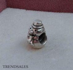Pandora led / charm, snemand frost med hat, 790374 - str. alm. - sølv
