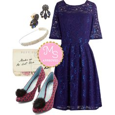 In this outfit: Indigo All Out Dress, Emblazoned with Beauty Earrings in Lake, Accessorize with Elegance Headband, Through the Post Clutch, Pom-Pom Aplomb Heel #fancy #prom #promdress #sequins #party #dresses #heels #elegant #outfits #fashion